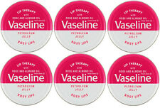 Vaseline Lip Therapy Petroleum Jelly Rose & Almond Oil ROSY LIPS 6 Tins