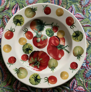 EMMA BRIDGEWATER VEGETABLE GARDEN TOMATOES 8.5 INCH PLATE - RARE FIRST QUALITY