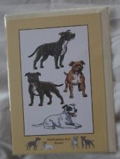 STAFFORDSHIRE BULL TERRIER (with drawings of the breed) CARD