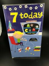 Birthday Greeting Card ' 7 Today' Boy