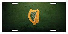 IRELAND Flag Custom License Plate IRISH Emblem HARP Version