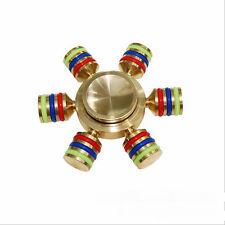 Brass Hand Spinner Finger Fidget Ball Desk EDC Focus Toy Kids/Adult Autism #A58