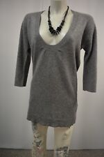 NICE CONNECTION Strick Long Pullover Gr. 36 38 Grau 100% Kaschmir Cashmere TOP
