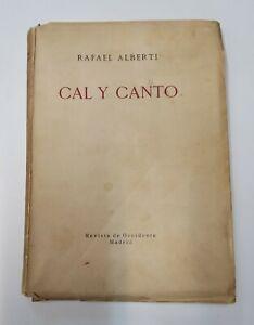 CAL Y CANTO. Rafael Alberti. Primera edición. 1929.