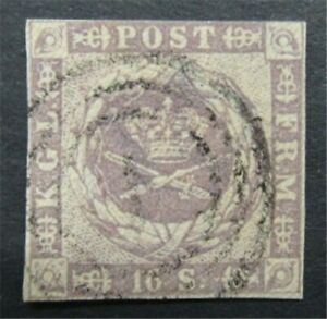nystamps Denmark Stamp # 6 Used $190     S24x336