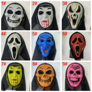 Halloween Scream Ghost Face Mask Fancy Dress Costume Party Accessories mask UK