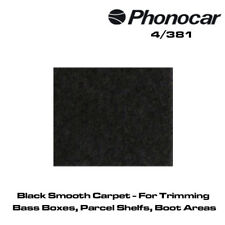 Phonocar 4/381 Black Smooth Carpet For Trimming Bass Boxes, Parcel Shelfs, Boot