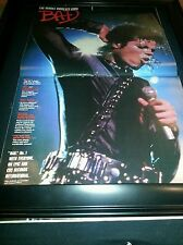 Michael Jackson Rare Original Bad Promo Poster Ad Framed!
