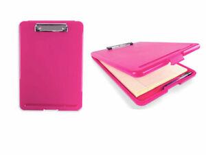 2pc PINK Storage Clipboard Nursing Document Holder RN Letter Size Clipboard SET