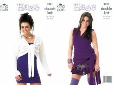 "King Cole Knitting Pattern 3221 Ladies Wrap Top Tie Bolero Cardigan DK 30-40"""