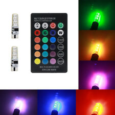 T10 RGB LED Car Interior Map Dome Door Bulbs Lights Parking Red Green Blue W5W