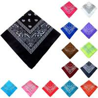 Men Square Scarf Hip Hop Bandana Head Towel Women Neck Hair Band Turban 55CM