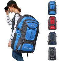 65L Waterproof Hiking Backpack Outdoor Camping Travel Rucksack Daypack Nylon