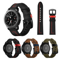 Classic Leather Replacement Watch Wrist Strap Band For Samsung Gear S3 Watch
