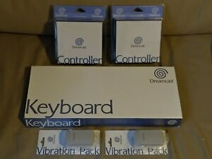 LOT 2 CONTROLLER MANETTES SEGA DREAMCAST + Keyboard + Vibration