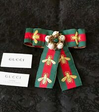 Gucci Bow Brooch with pearls and crystals