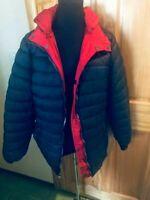 NWT Gorgeous Navy/ Red Reversible Puffer Winter Jacket Women's US Sz XL