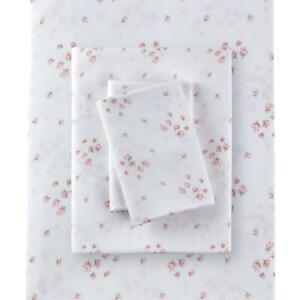 Rachel Ashwell Simply Shabby Chic Full Sprinkles Sheet Set Polyester Pink Flora