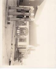 "1915, 8.5"" X 11"" B/W Photo of Blacksmith Shop & Gas Pumps (29218)"