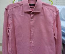 Fabulous Hugo Boss Long Sleeve Red Check Shirt 38 15 Regular Fit Smaert &Trendy