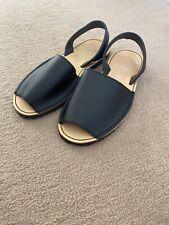 AVARCA MENORQUINA  Black Leather Sandals  Size 5 Womens Sandals