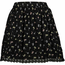 SUPERDRY Women's SERENA DITSY Skirt, Black/Palm Tree Print, size XXS / UK 6