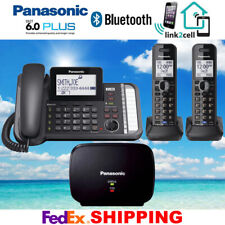 PANASONIC KX-TG9582B 2-LINE 1 CORDED 2 CORDLESS PHONES 1 REPEATER - NEW