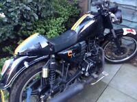 125 cafe racer motorbike