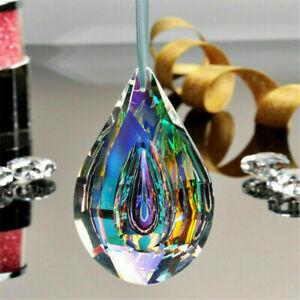 Crystal Glass Suncatcher Chandelier Lamp Hanging Drop Color Pendant Decors