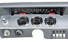 1961-62 Chevrolet Impala Dakota Digital Black Alloy & Red VHX Gauge Dash Kit