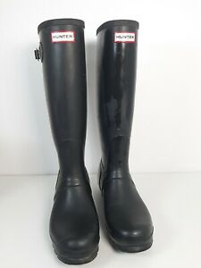 Hunter Wellington Boots Men's Black Original Tall Boots For Men's Size UK 9