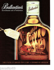 PUBLICITE ADVERTISING 066  2000  Whisky Ballantine's les oies blanches    290616