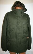 BURTON DryRide Dark Green Pinstripe Men's SNOWBOARD Ski JACKET Coat Large