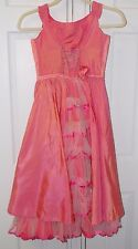 Dress-Up Dress Costume Handmade Girls Size 8 / 10 Long Fancy Princess Pink