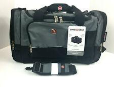 SWISS GEAR Sport Duffel Bag Gray with Black Travel Gym SA9000 New