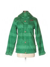 Women The North Face RICAS Insulated Green Herringbone Coat Size XS