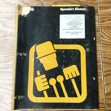 Dresser International Ih Td 20e Operator Manual Crawler Tractor Maintenance Book