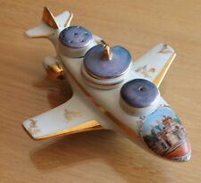 ancienne salière  service a condiment moutardier forme d avion (anet le chateau)