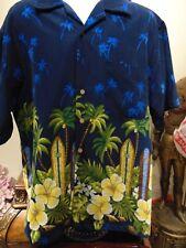Maui Maui Men's Palm Trees and Surf Boards Hawaiian Shirt XL