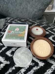 Bnib Crabtree & Evelyn, Indian Sandalwood Shave Soap In Carved Wooden Bowl  100g