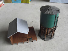 Vintage HO Scale Plastic Pond Building and Water Tower