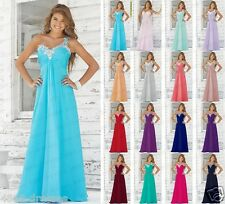 New Design Chiffon  Evening Formal Party Ball Gown Prom Bridesmaid Dress Sz 6-18