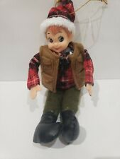 Christmas Pixie Elf Camper Doll Tree Knee Hugger Ornament