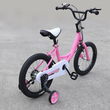 16 Inch Pink Kids Bike Girls Bicycle Cycling W/ Stabilisers Fit 4-7 Years Old