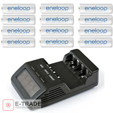 BEST BC800 BC-800 INTELLIGENT Battery Charger Analyser + 12 AA Eneloop batteries