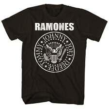 Ramones Seal Logo T Shirt Mens Licensed Rock N Roll Music Concert Tee New Black