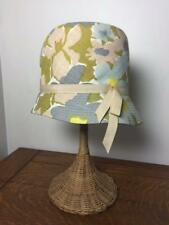 4aa0f999cca Vintage 1960s ORIGINAL ROBERTA BERNAY S Hat Retro Mod Floral Bucket w  Stand