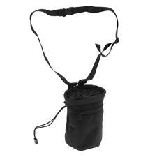 """4.1"""" x 5.8"""" Cylindrical Weight Lifting Climbing Chalk Bag + Belt Zip Pocket"""