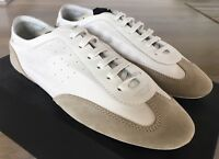 650$ Saint Laurent Super Light White Leather Sneakers size US 12, Made in Italy