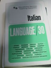 2 Cassette Tapes ITALIAN Language/30 Educational Series 1974 in clamshell case